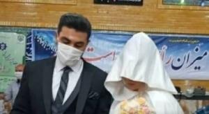 حضور عروس و داماد کرجی در پای صندوقهای رأی