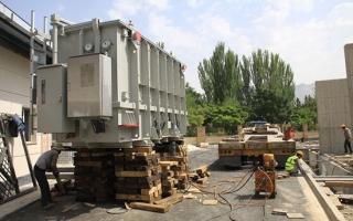 ترانس اصلی پست برق متروی کرج نصب شد