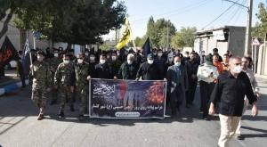 برگزاری مراسم تشییع شهید گمنام و پیادهروی جاماندگان اربعین حسینی(ع) در شهر گلسار